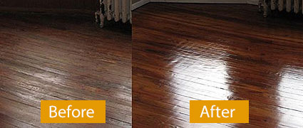 Before and After Carpet Cleaning Picture
